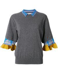 Toga Pulla - Checked Trim Sweater - Lyst