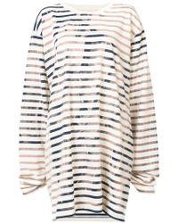 Faith Connexion - Striped Sweatshirt Dress - Lyst