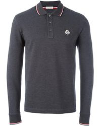 Moncler - Long Sleeve Polo Shirt - Lyst