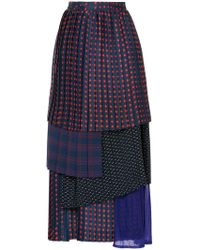 Facetasm - Dotted Layered Pleated Skirt - Lyst