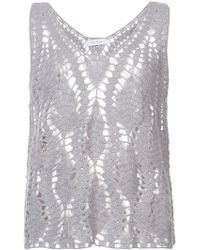 Ryan Roche - Cashmere Crocheted Design Top - Lyst