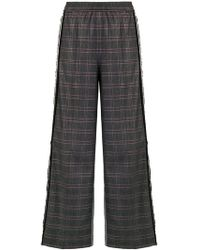8pm - Check Wide Leg Trousers - Lyst