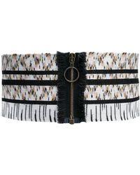 Missoni Knitted Zip Belt - White