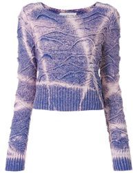 Faith Connexion - Tie-dyed Cropped Sweater - Lyst