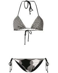 97ae5d3f200b7 Lyst - Missoni Striped Bikini in Black