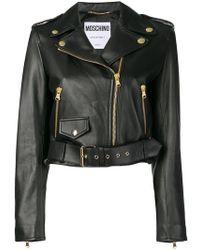 Moschino - Off-center Zipped Jacket - Lyst