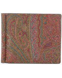 Etro Portafoglio bi-fold con stampa paisley - Multicolore