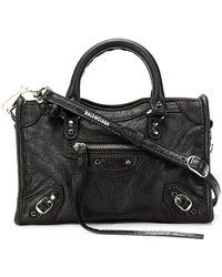 76578f4a09 Balenciaga Classic City Nano Textured-leather Shoulder Bag in Green ...