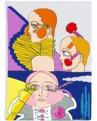 Olympia Le-Tan - Portrait Book Clutch - Lyst