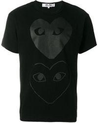 Play Comme des Garçons - Comme Des Garçons Play Printed Heart T-shirt - Lyst