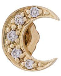 Sydney Evan - Diamond Moon Stud Earring - Lyst
