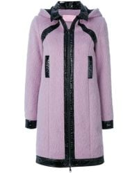 Giamba - Patent Detail Hooded Coat - Lyst