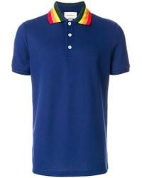 Gucci - Polo Shirt With Wolf Appliqué - Lyst