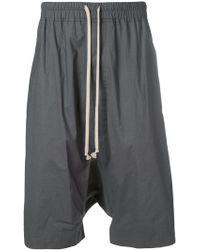 Rick Owens - Drop Crotch Shorts - Lyst