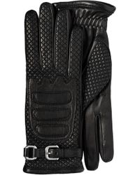 Prada - Nappa Leather And Fabric Gloves - Lyst