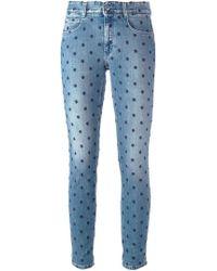 Stella McCartney - Star Skinny Ankle Grazer Jeans - Lyst