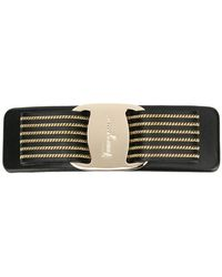 Ferragamo - Striped Vara Bow Hair Clip - Lyst