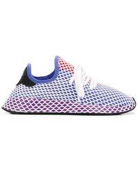 3b89fba484f9f adidas Originals Deerupt Runner Sneakers in White - Lyst