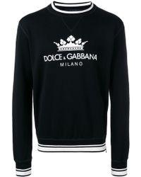 Dolce & Gabbana - Sudadera con logo en el frente - Lyst