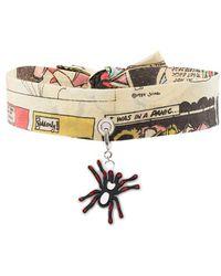 Prada - Comic Print Choker With Spider Charm - Lyst