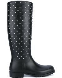 Saint Laurent - Crystal Studded Rubber Festival Boots - Lyst