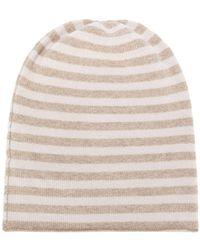 Danielapi - Horizontal Striped Beanie - Lyst