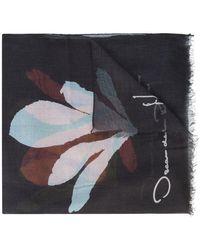 Oscar de la Renta - Seaweed Print Scarf - Lyst