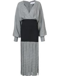 Wanda Nylon - Houndstooth Print Fringe Dress - Lyst