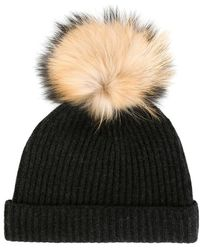 6a5cf2c12 Detachable Pompom Ribbed Hat