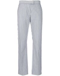 PS by Paul Smith - Striped Slim-fit Cropped Trousers - Lyst