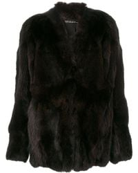 32 Paradis Sprung Freres | Fur-lined Fitted Coat | Lyst