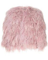 Ralph Lauren Collection - Collarless Fur Jacket - Lyst