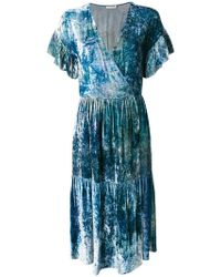MASSCOB - Marble Effect Wrap Dress - Lyst