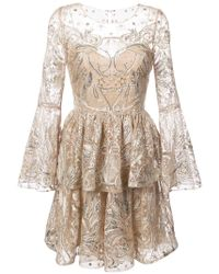Notte by Marchesa | Sequin Embroidered Tulle Dress | Lyst