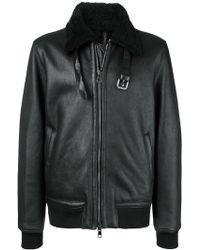 Low Brand - Front Zip Aviator Jacket - Lyst