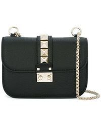 Valentino - Glam Lock Leather Shoulder Bag - Lyst