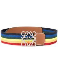 Loewe - Striped Belt - Lyst