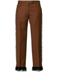 Marco De Vincenzo - Frill Trim Cropped Trousers - Lyst