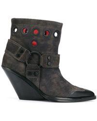 DIESEL - Wedge Boots - Lyst