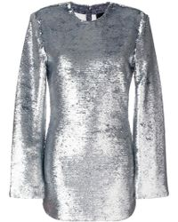 RTA - Glitter Mini Dress - Lyst