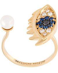 Delfina Delettrez - 'eyes On Me Piercing' Diamond And Sapphire Ring - Lyst