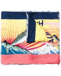 Paul Smith - Mackerel Print Scarf - Lyst
