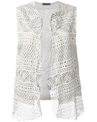 Cutuli Cult | Embroidered Knitted Gilet | Lyst