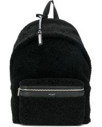 Saint Laurent - Fleece Backpack - Lyst