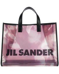 Jil Sander - Branded Transparent Tote - Lyst