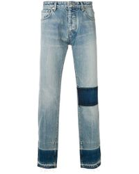 Ambush - Contrast Panel Straight Jeans - Lyst