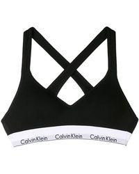 Calvin Klein - Logo Bralette Top - Lyst