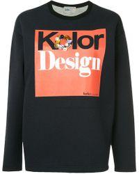 Kolor - Embellished Logo Sweatshirt - Lyst