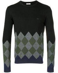 Sun 68 - Argyle Instarsia Sweater - Lyst