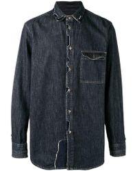 Diesel Black Gold - Patchwork Denim Shirt - Lyst